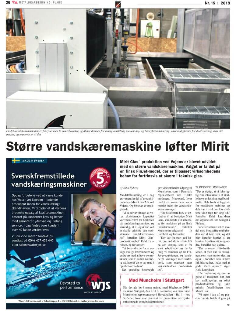 Artikel om Mirit Glas i Teknovation