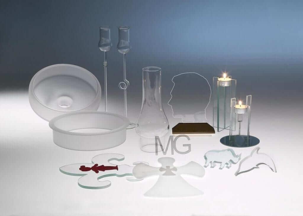 Diverse glasvarer fra Mirit Glas